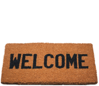 welcome mat.